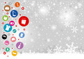 Shopping icon design on christmas background - PhotoDune Item for Sale