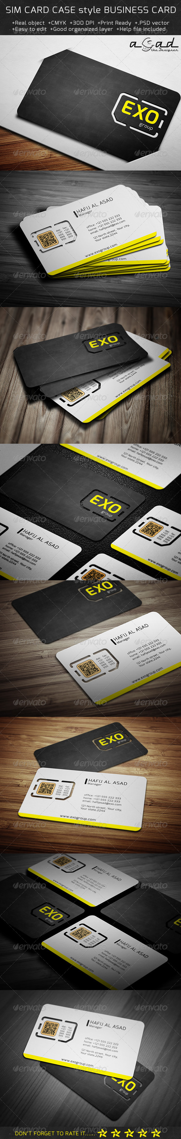 GraphicRiver Sim Card with Cas Style Business Card 6076417