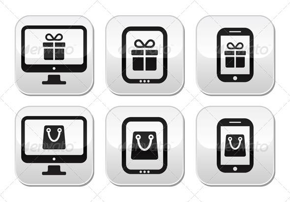 GraphicRiver Shopping Online Unternet Shop Buttons Set 6076436