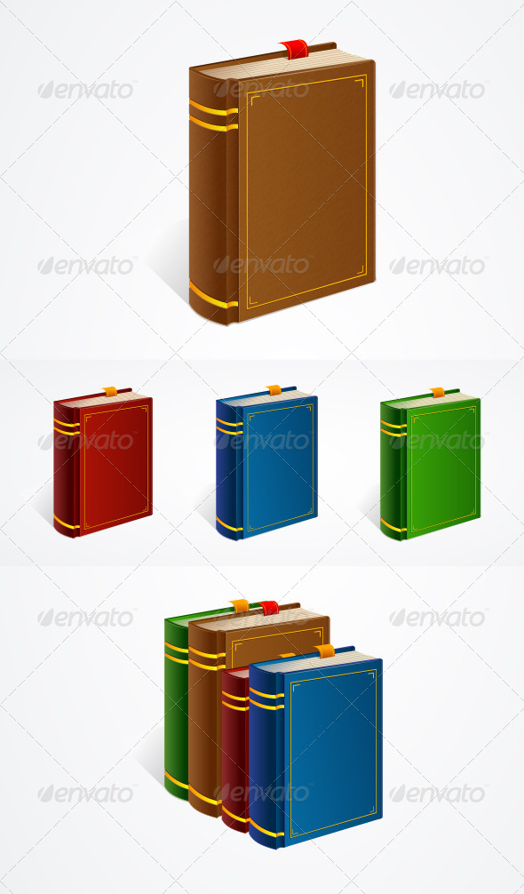 GraphicRiver Vector Old Book Icon Set 6076697