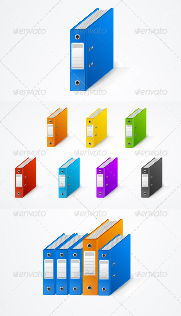 GraphicRiver Set of Colorful Ring Binders 6076902