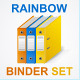 Set of Colorful Ring Binders - GraphicRiver Item for Sale