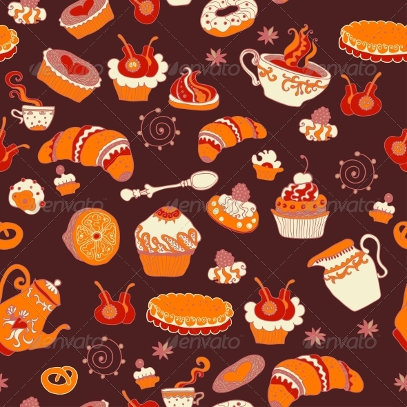 GraphicRiver Coffee Seamless Pattern 6077194
