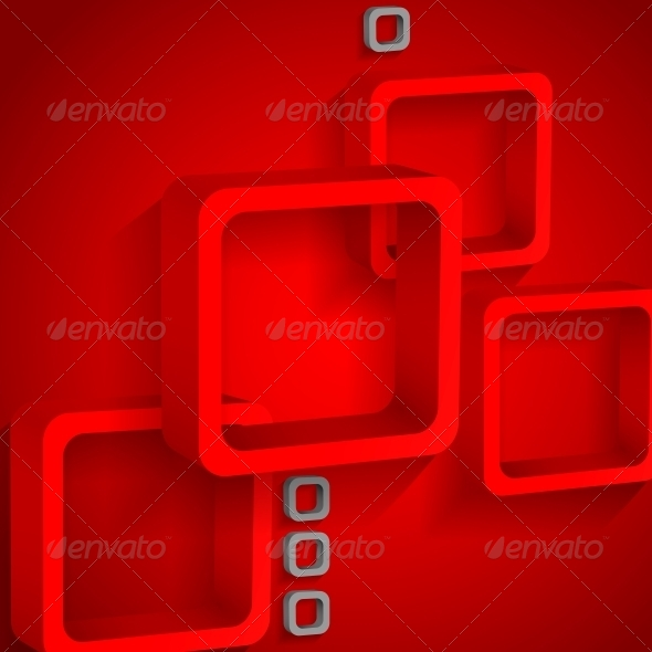 GraphicRiver Red Squares Background 6077843
