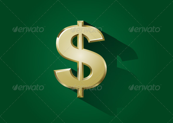 GraphicRiver Gold Dollar Sign 6077994