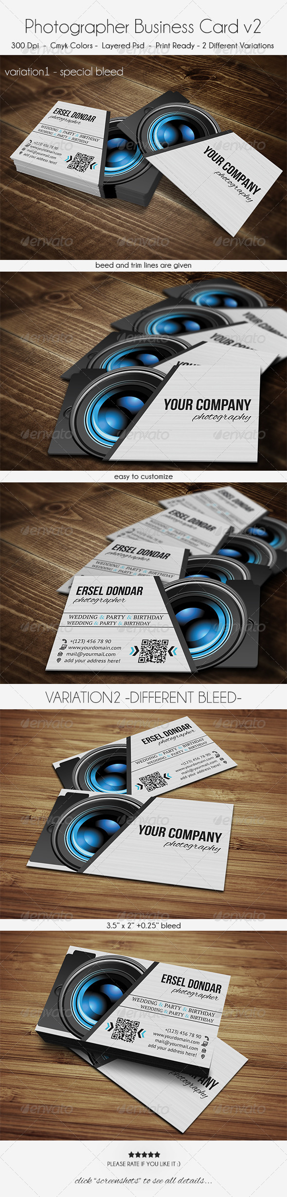 GraphicRiver Photographer Business Card v2 6069878
