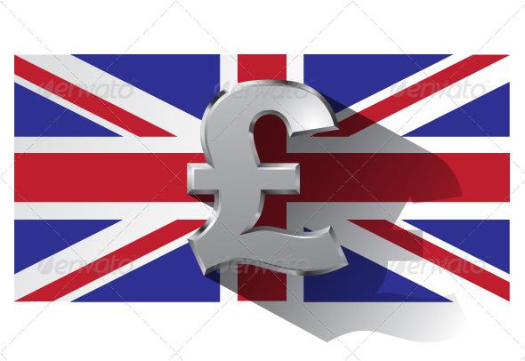 GraphicRiver Pound Sign on Union Jack Flag 6078147