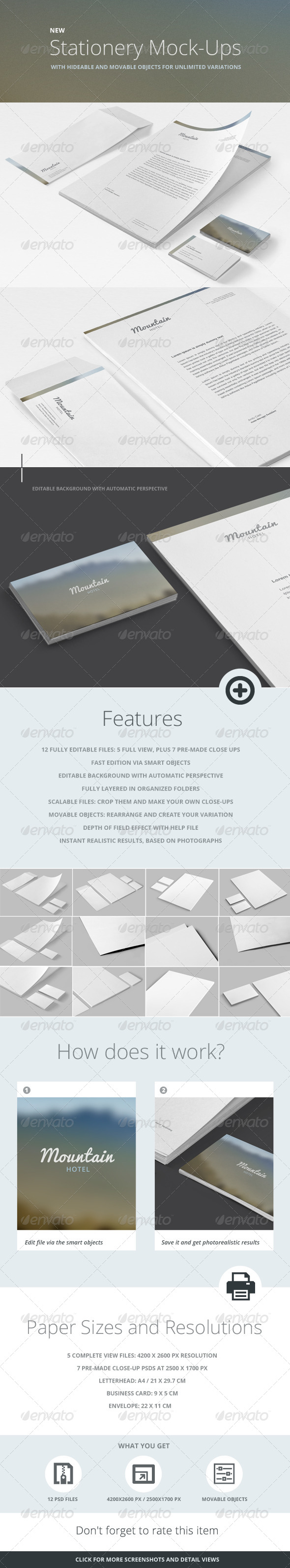 GraphicRiver Stationery Branding Mock-Up 6078175