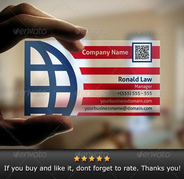 GraphicRiver Transparent Global Business Card 6078389