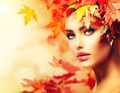 Autumn Woman Portrait. Beauty Fashion Model Girl - PhotoDune Item for Sale