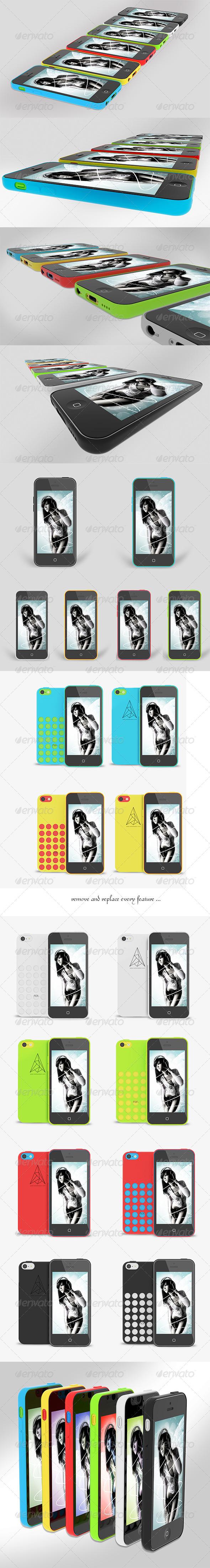 GraphicRiver uPhone 5c Mock up v2 6079291