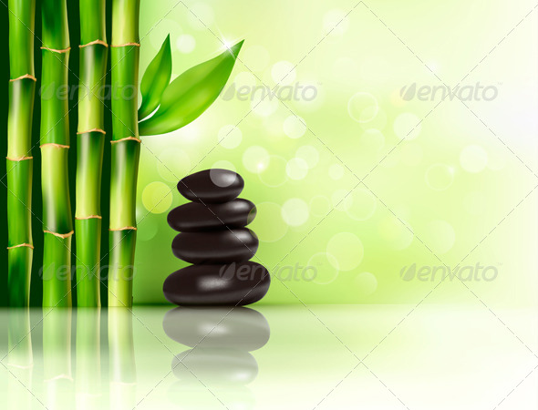GraphicRiver Spa Background with Bamboo and Stones 6080031