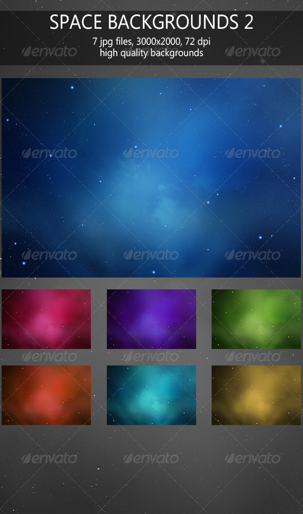 GraphicRiver Space backgrounds 2 6081356