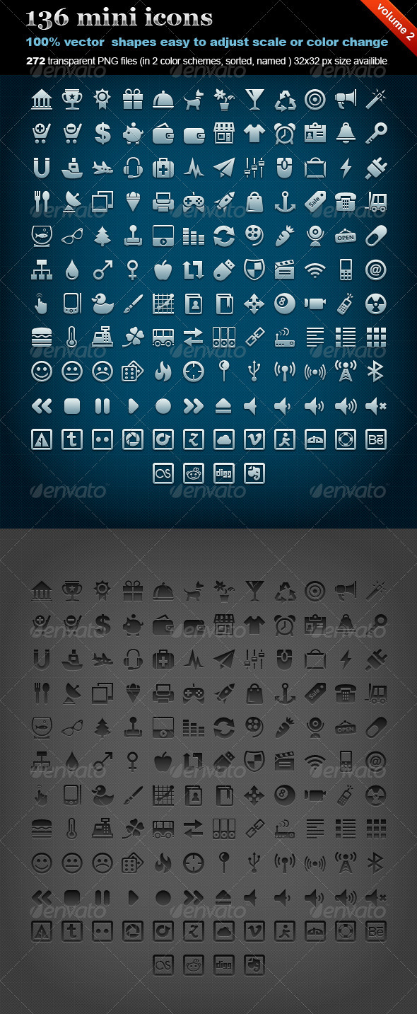 136 mini icons (volume 2) - Web Icons