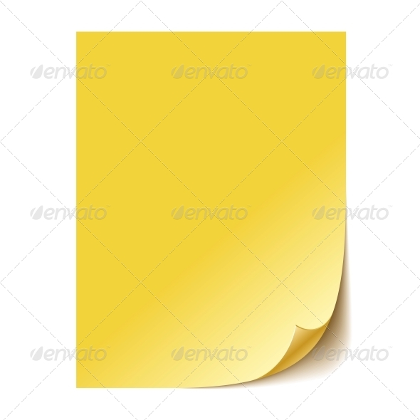GraphicRiver Empty Yellow Paper Sheet 6082441