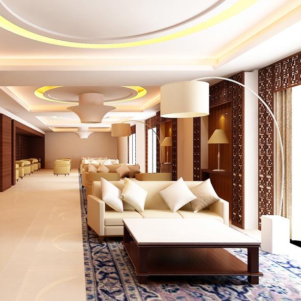 3DOcean Realistic Restaurant Interior 3D model 602356