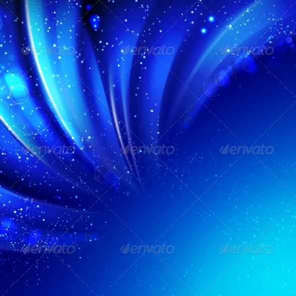 GraphicRiver Snow on Blue Luminous Rays 6082529