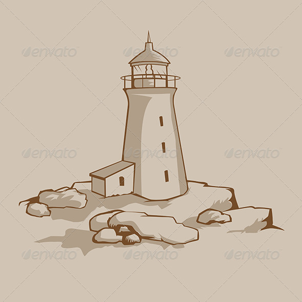 GraphicRiver Rock Lighthouse 6082778