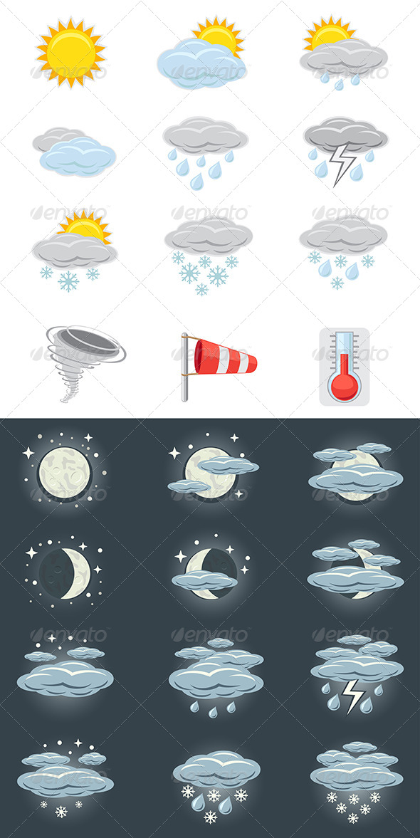 GraphicRiver Weather Icons 6083815