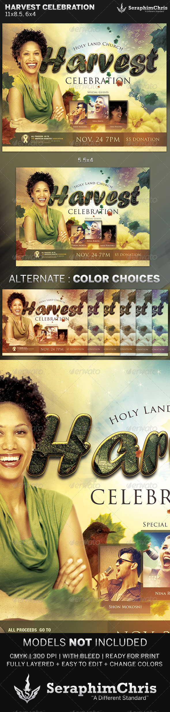Harvest Celebration: Church Flyer Template - Church Flyers
