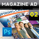 Magazine Advert Template 002 - GraphicRiver Item for Sale