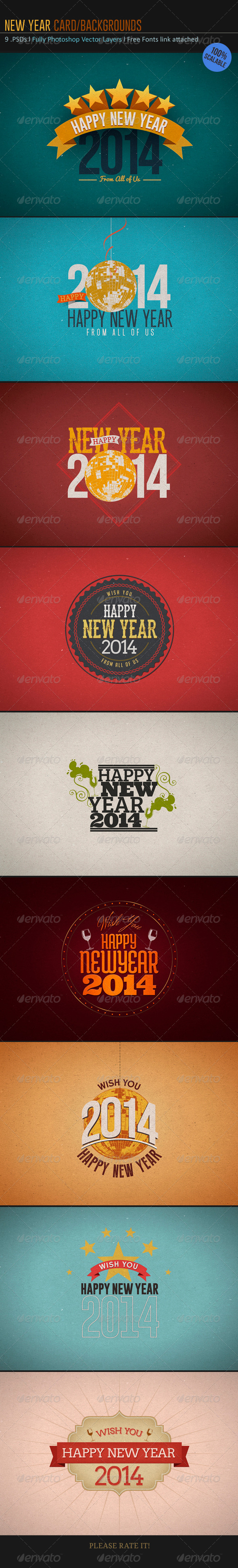 GraphicRiver New Year Card-Backgrounds 6084496