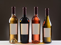 Wine Bottles With Blank Labels - PhotoDune Item for Sale