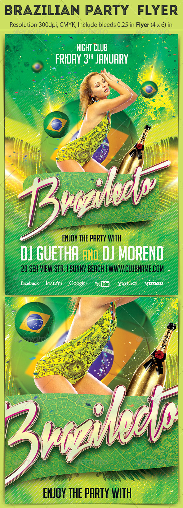 Brazilian Party Flyer - Clubs & Parties Events