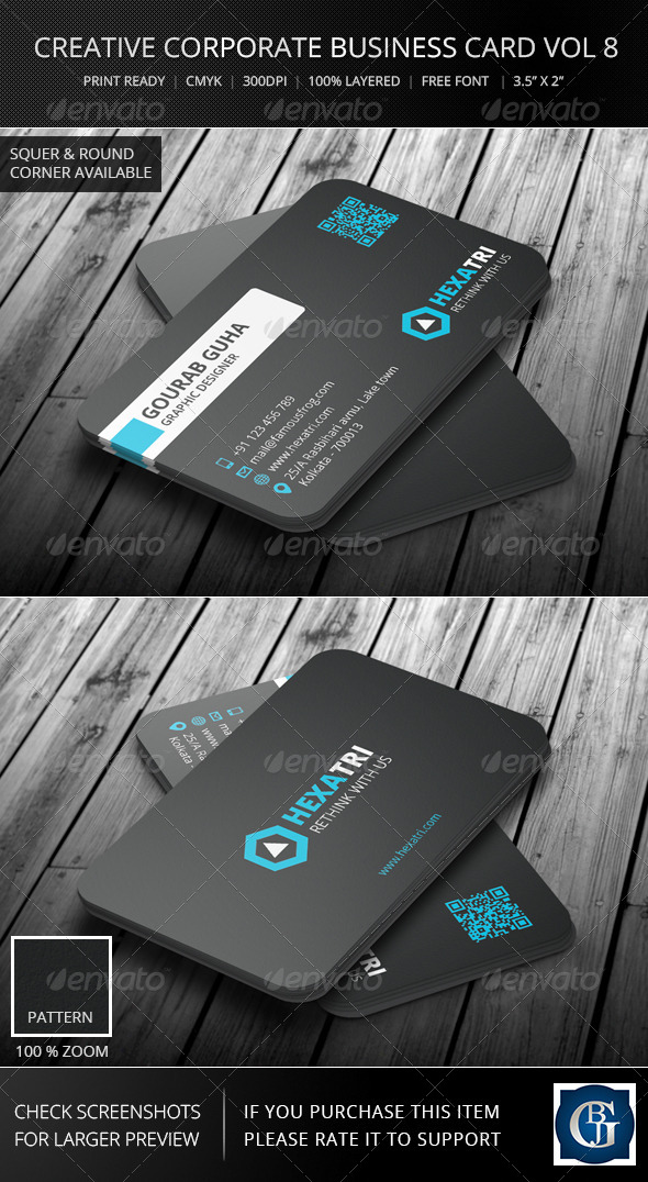 GraphicRiver Creative Corporate Business Card Vol 8 6086942