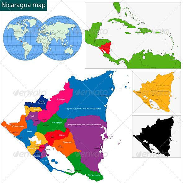 GraphicRiver Nicaragua Map 6087141