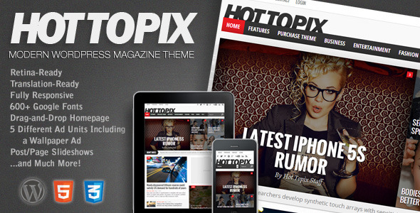 Hot Topix - Modern Wordpress Magazine Theme - News / Editorial Blog / Magazine