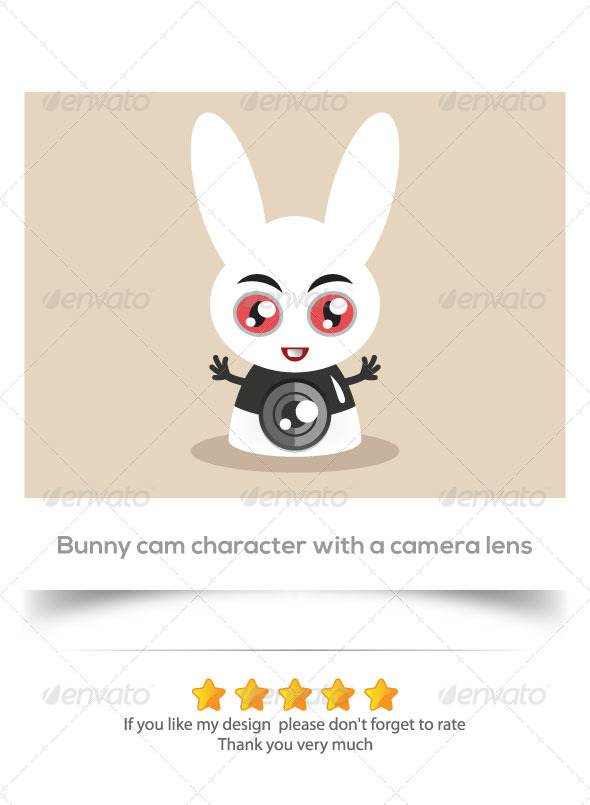 GraphicRiver Bunny Cam Character 6090196