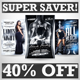 Black and White Party Flyers Super Bundle Vol.1 - GraphicRiver Item for Sale