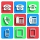 Phone Icons With Shadow - GraphicRiver Item for Sale
