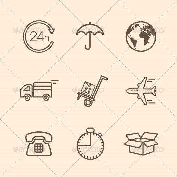 GraphicRiver Delivery Icons 6091987