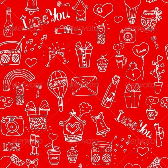 GraphicRiver Love Pattern 6092008