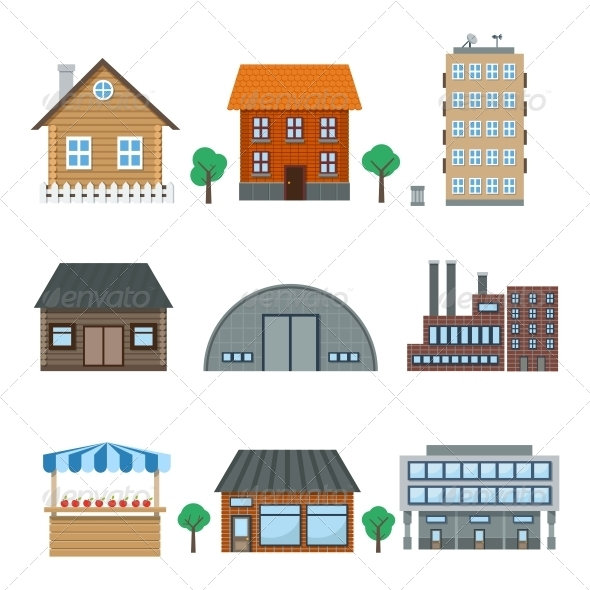 GraphicRiver Building Icons 6092015