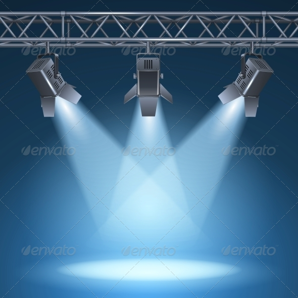 GraphicRiver Stage with Lights 6092059