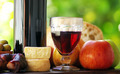 Red Wine and mediterranic food. - PhotoDune Item for Sale