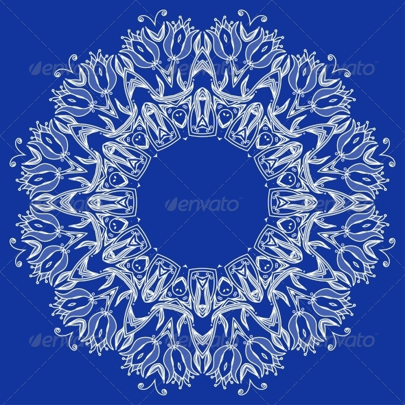 GraphicRiver Ornamental Round Lace Pattern 6092492