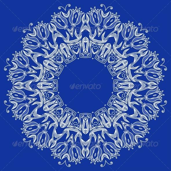 GraphicRiver Ornamental Round Lace Pattern 6092492