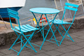 Cafe table and two portable chairs - PhotoDune Item for Sale