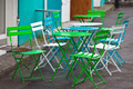 Bright Multicolor Cafe Tables and Chairs - PhotoDune Item for Sale