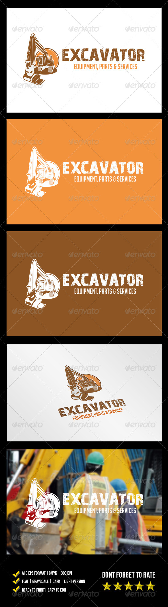 GraphicRiver Excavator Logo 6093598