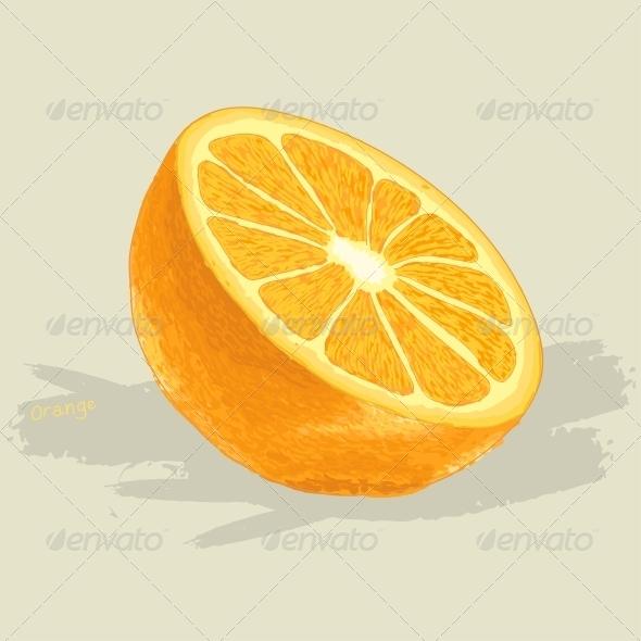 GraphicRiver Hand Drawn Fresh Orange 6094453