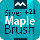 Silver Maple Brush - With 22 Leaf  HQ Source File - GraphicRiver Item for Sale