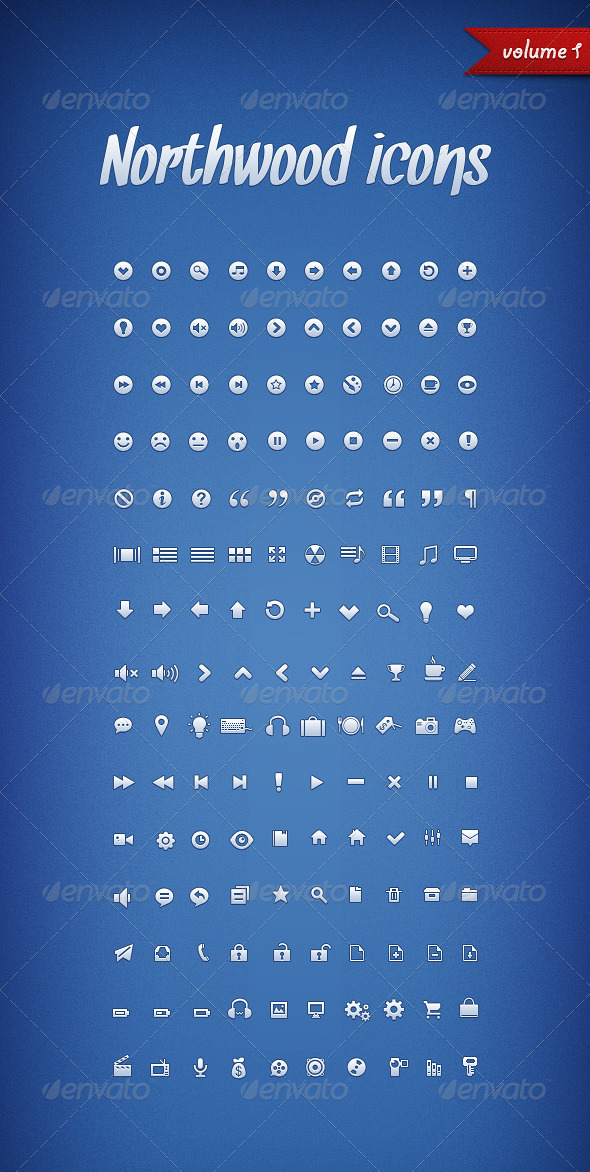 GraphicRiver Northwood Icons Volume 1 406715