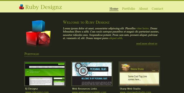 Ruby Designz Business Template - Business Corporate