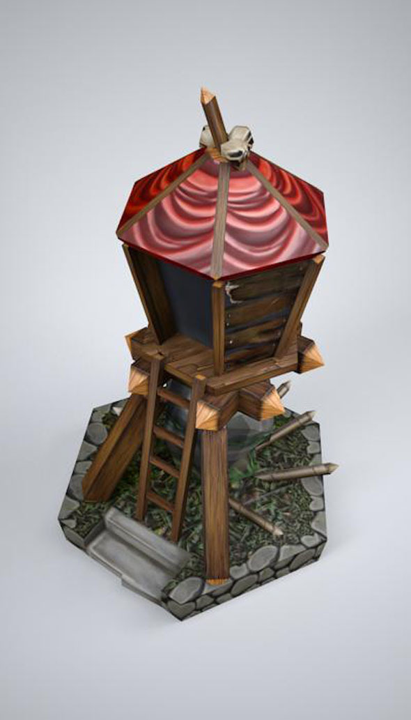 3DOcean orc tower LOW POLY mobile game ready 6095479