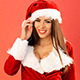 Sexy Brunette Woman in Santa Claus Costume - VideoHive Item for Sale